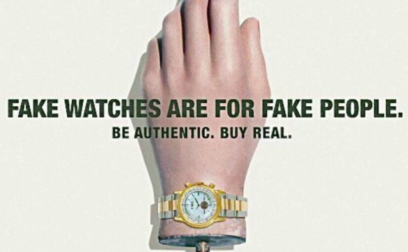 Neue Kampagne gegen gefälschte Uhren von der Fondation De La Haute Horlogerie