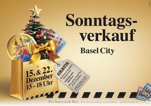 Am 15. und 22. Dezember hat Basel Sonntags geöffnet